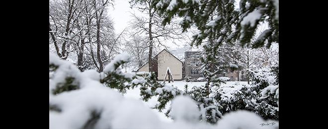 Unsere Kapelle am Park im Winter